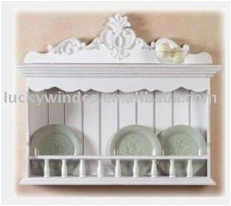 country kitchen plate rack white painted country antique wooden wall 6122
