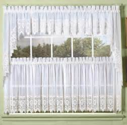 quaker lace kitchen swag curtains curtain design