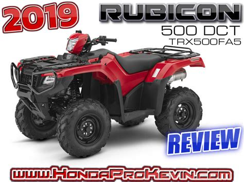 2019 Honda Rubicon 500 Dct Atv Review  Specs + R&d