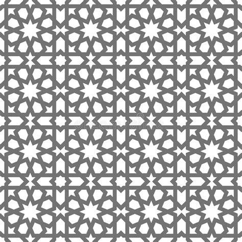 white arabesque islamic seamless vector pattern geometric ornaments based