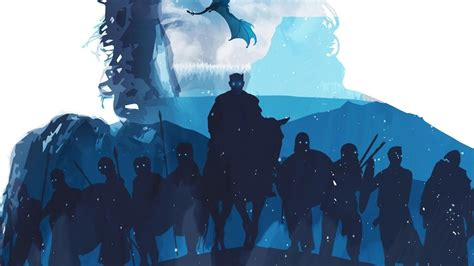 night king white walkers army minimalist game