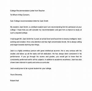 15+ College Remendation Letters – PDF, Word Sample Templates