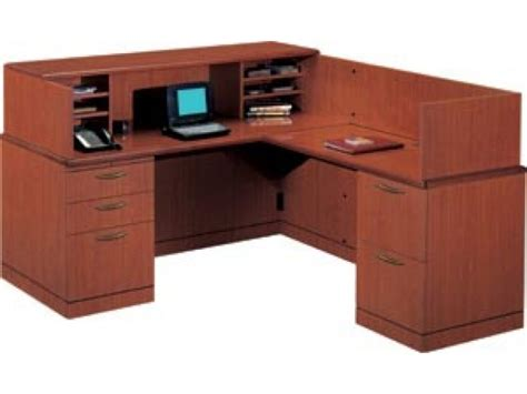 l shaped reception desk r reception l shaped office desk full pedestal vtl 2600r