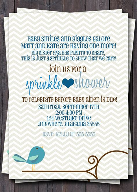 Baby Shower Wording Ideas For A Boy - baby sprinkle baby shower or sip n see by sullivandigidesigns