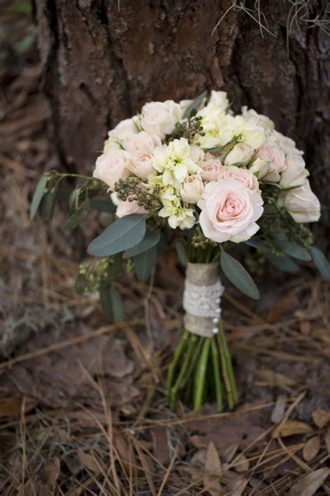 elegant rustic wedding bouquet   valentine