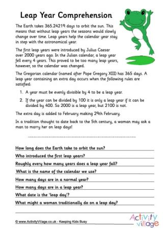 leap into the future worksheet