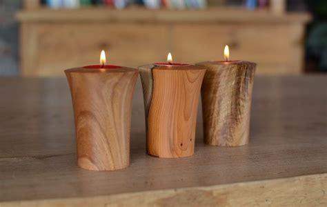 hand turned wooden tea lights jonathan leech lathe