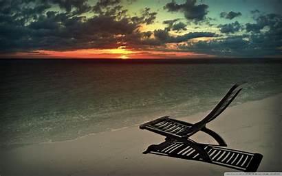 Chill Evening Background Beach 4k Chair Uhd