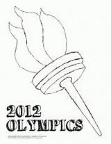 Coloring Torch Olympic Maze Related Pages sketch template