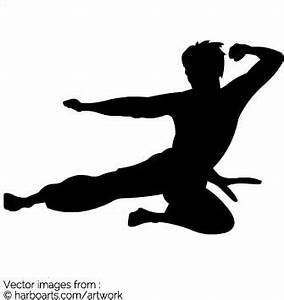 Download : Bruce Lee Fly Kick - Vector Graphic