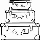 Coloring Suitcases Maletas Suitcase Colorear Dibujos Clipart Crib Printable Maleta Malas Disegni Supercoloring Dibujo Therapy Colorir Valige Colorare Baggage Valigie sketch template