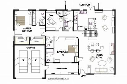 Plan Floor Office Plans Open Layout Concept