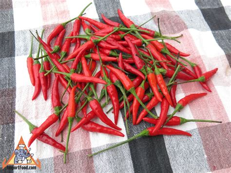 fresh red thai chili peppers import food blog importfood