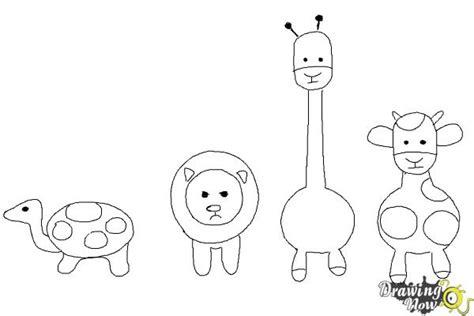draw simple animals drawingnow