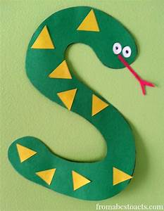 25 best ideas about letter s crafts on pinterest With arts and crafts letters