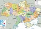 Political Map of Ukraine - Ezilon Maps