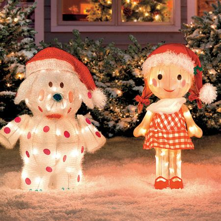 rudolph misfit toys set   outdoor christmas tinsel