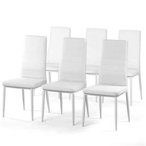 lot de chaise salle a manger sam lot de 6 chaises de salle à manger blanches achat