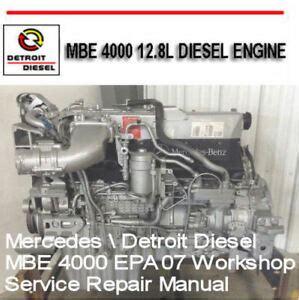 Detroit Diesel Mbe Epa Workshop Service Manual