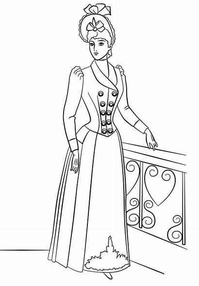 Coloring Pages Victorian Printable Era Adults Template