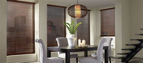 Hunter Douglas Dark Wood Blinds Purple Couch Living Room Designs Window Curtain Ideas For Sofa Small Rooms Furniture On Sale Decorating A Very Pouf How Much To Decorate San Francisco