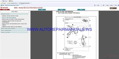 toyota fortuner   workshop manual auto repair
