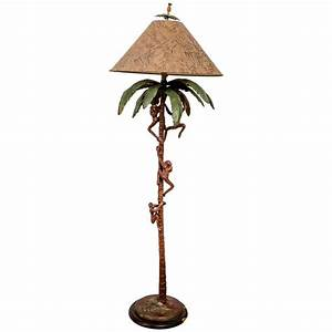 monkey floor lamp by frederick cooper at 1stdibs With frederick cooper floor lamp with table