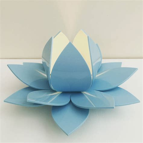 lotus flower table lamp bedside lamp  kirsty shaw