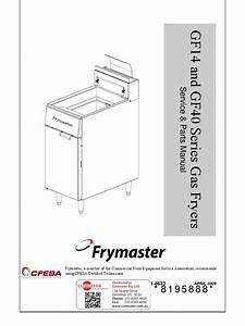 Frymaster Gf14 Service  U0026 Parts Manual