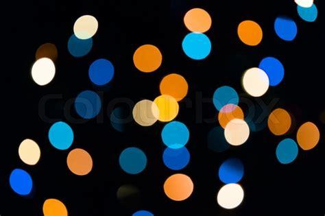 blue  orange natural bokeh texture stock photo