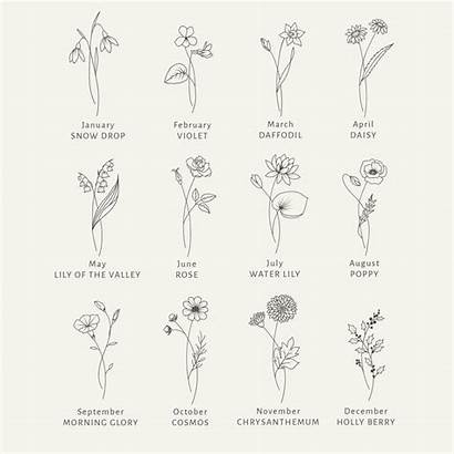 Birth Month Flower Tattoo Flowers Svg Tattoos