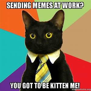 sending memes at work? you got to be kitten me! - Business ...