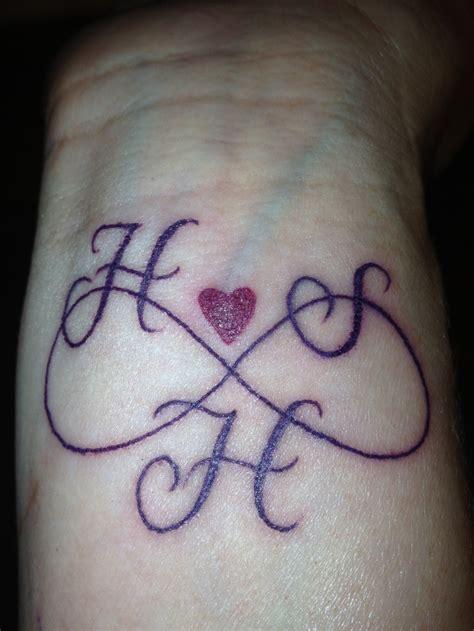 infinity tattoo   childrens initials  pins