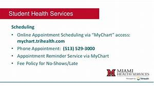 My Chart Trihealth Login Student Health Services Breakout Session
