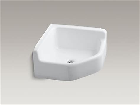 Small Corner Mop Sink by Kohler K 6710 Whitby Floor Mounted Corner Service Sink