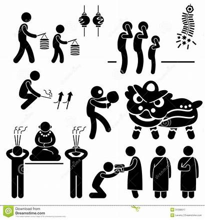 Stick Religion Tradition Chinese Pict Asian Pictogram