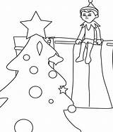 Shelf Elf Coloring Pages Christmas Sheets Sheet sketch template