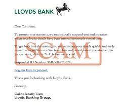 scam lloyds bank letters upminster
