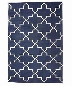 Tapis Scandinave Bleu : hubsch interior tapis scandinave en coton bleu naturel 120x180cm h bsch interior petite ~ Teatrodelosmanantiales.com Idées de Décoration