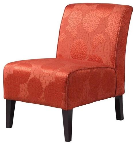 slipper chair matelasse burnt orange contemporary