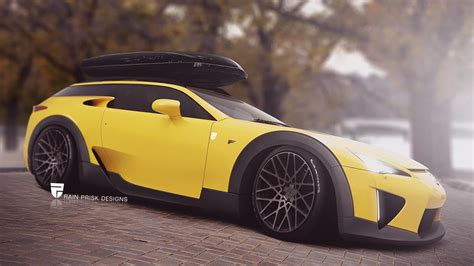 rendering lexus lfa shooting brake