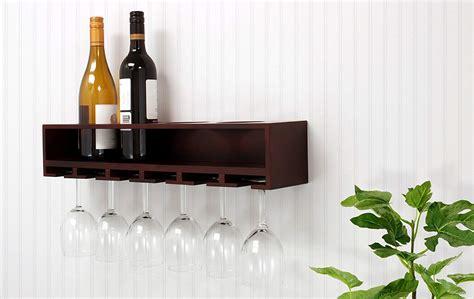 Wine Glasses & Wine Bottles Storage Wooden Wall Mounted