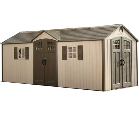 lifetime 15x8 plastic shed lifetime 20x8 new style storage shed kit w floor 60127