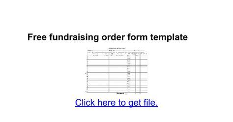 fundraising order form template google docs
