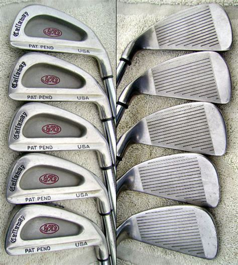 used steel callaway s2h2 irons 2 sw