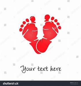 Baby Foot Prints Love Vector Illustration Stock Vector ...