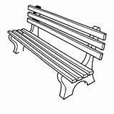 Bench Clipart Outline Clip Library sketch template