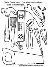 Coloring Tool Pages sketch template