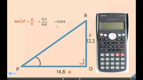 de sinus cosinus en tangens van een hoek  je rekenmachine youtube