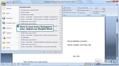 comment creer ou modifier  modele de document word
